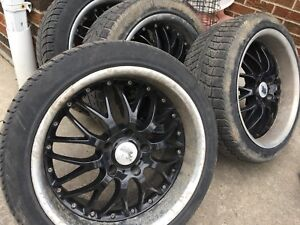 245 40 18 deep dish rims with tires mss