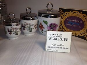 Royal Worcester Maxim Egg Coddlers