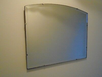 30s ART DECO VINTAGE LARGE FRAMELESS BEVELLED EDGE WALL MIRROR