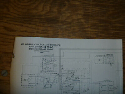 Bobcat 435 Excavator Hydraulic Hydrostatic Schematic Diagram Manual Sn 562611001