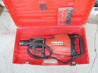 Hilti Te1000-avr Demolition Hammer Breaker Kit Nice 864