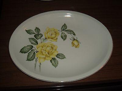Large oval Paden City Pottery yellow rose platter