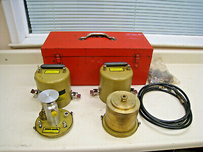 Egg Chandler 59-1 Hydraulic Featherweight Deadweight Tester 2000 Psi W Weights