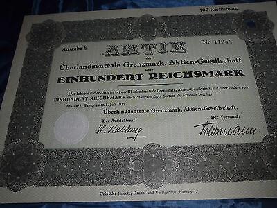 1075 : Aktie / Wertpapier , ÜZ Grenzmark , Flatow / Westpreussen 1931 // 11645
