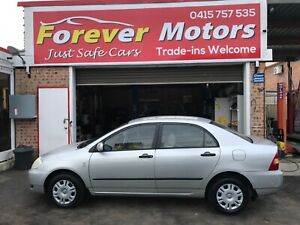2001 TOYOTA COROLLA  ASCENT AUTOMATIC SEDAN Long Jetty Wyong Area Preview