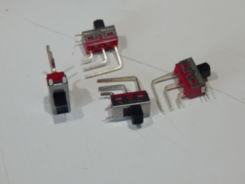 TAIWAN 500-SSP-1-S1M7QE SLIDE SWITCH 6A 120VAC ON-NONE-ON SPDT - LOT OF 4