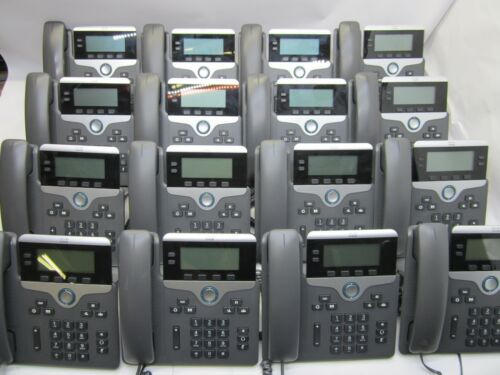 QTY 16 Cisco CP-7821 IP VoIP Phone w/ Stand & Handset T9- C10