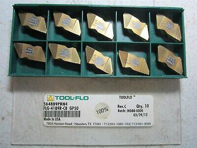 Tool-flo 564889prn4 Flg-4189r-cb Gp50 Carbide Grooving Insert - Pack Of 10