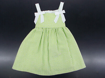 Toddler Girls Bonnie Jean Green   White Checked Dress Size 2T   4T