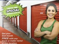 Free month storage Peterborough