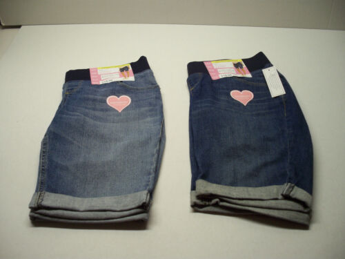 2 Pair - NEW Great Expectations Maternity Denim Bermuda Shorts size S (4-6) NWT