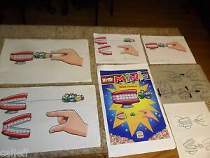 7  LOT ORIGINAL ART PRE PRODUCTION PROOF POSTER BK TOYS SWARM CHOMPER M&M CANDY