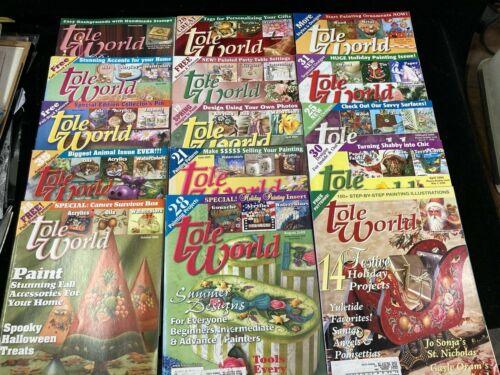 TOLE WORLD, LOT OF 15 MAGAZINES, 2004-2006