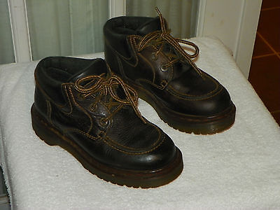 Dr. Martens Moc Toe Lace Up Boots US Size 6 UK Size 4 Made England Style #8458 Dr Martens Moc Toe