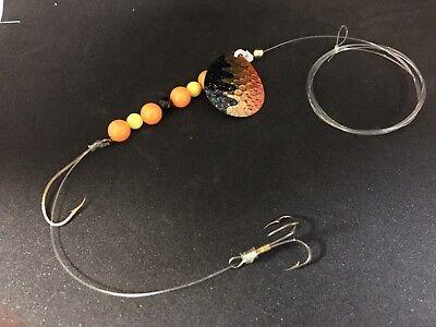 MAB Lures Spinner Rigs, Worm Crawler Harness Walleye Custom Colors Halloween