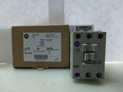 New Allen Bradley 100-c30d00 3 Pole Contactor 110120 Volts Series C Nib