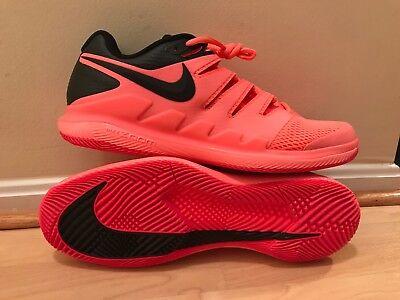 7f250b43c2f11 NEW Nike Air Zoom Vapor X Men s Tennis Shoes Size 12.5 Lava Glow Roger  Federer