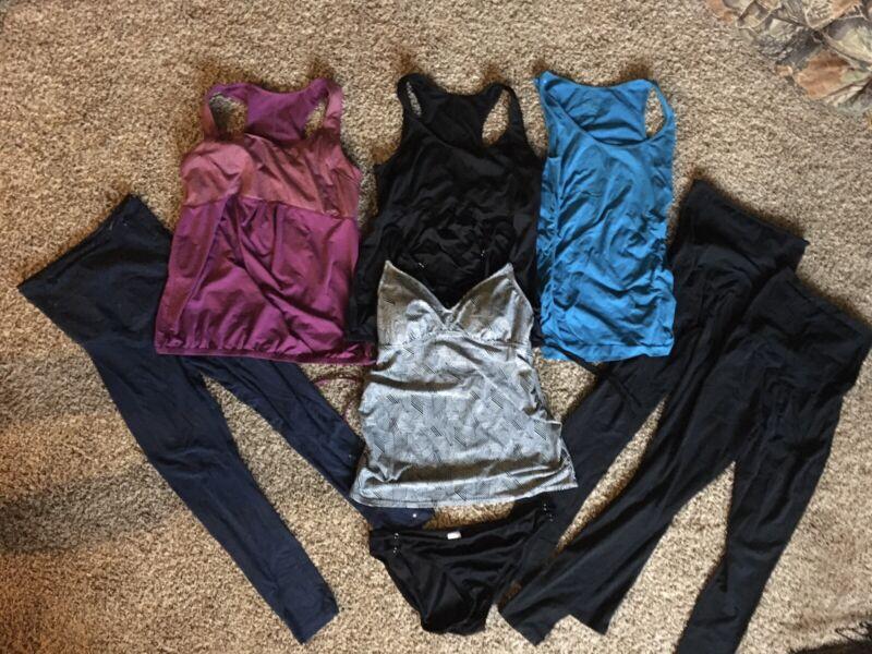 Summer Maternity Clothes Medium/Large Active Wear, Swimsuit, Tank Tops, Leggings