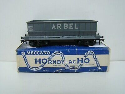 "HORNBY - ACHO - 726 - WAGON HOUILLER "" ARBEL "" A BOGIES - SNCF - BOITE - ANCIEN"