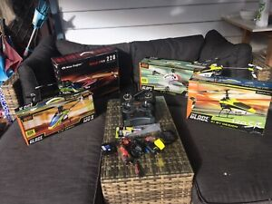 RC helicopters and accessories