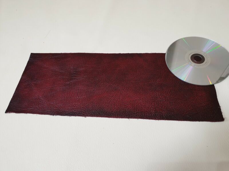 Red+Oxblood+Antique+rub+off+14%22x5.5%22++Quality+offcut+1.1mm+Craft+patch+repair