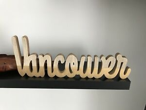 Vancouver wooden block sign