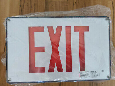 Isolite Max 2.0 Low Profile Wet Location Die-cast Led Exit Sign - White