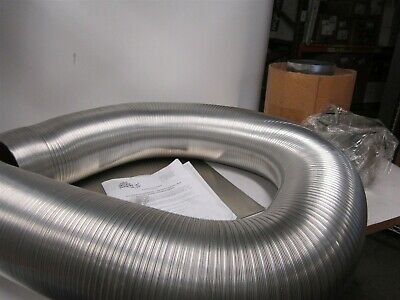 "WESTAFLEX 9513 Aluminum 6"" x 35 ft Chimney Liner Kit Use With Natural Gas"