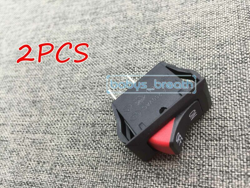 2PCS Rocker Switch Power Pink 20 A 16 A Canal HB Series US