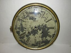 Antique Large Wall Clock Dial with Bezel and Glass, 11