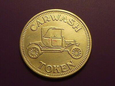 Vintage CAR WASH NO CASH VALUE TOKEN Rare NO Letters on front RWM on the back