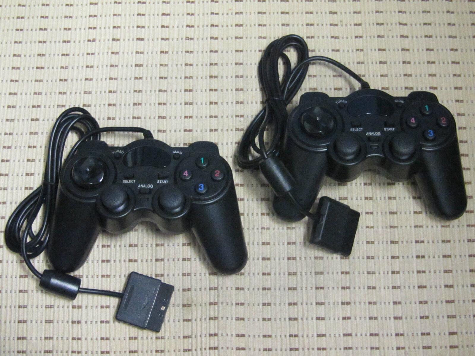 2 Controller für Playstation 2 PS2 Gamepad NEU schwarz