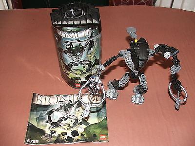 LEGO 8738 Bionicle Metru Nui Toa Hordika Whenua With Rhotuka Spinner +2 spinners