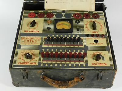 Radiotechnic Laboratory Model 130 Vintage Tube Tester Unmodified Untested