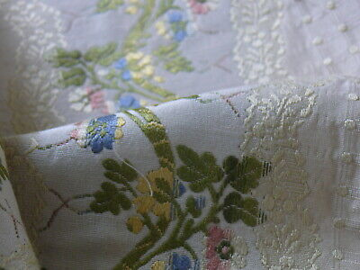 SCALAMANDRE OLD WORLD WEAVERS SILK LISERE ROMANO IVORY -