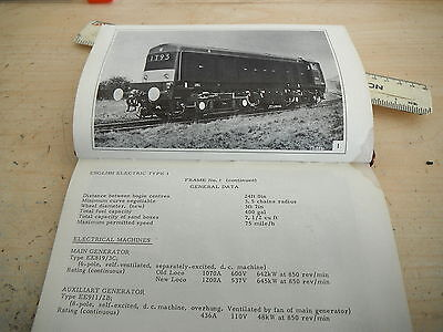 ENGLISH ELECTRIC D8000 DRIVERS OPERATION & FAULT GUIDE RAILWAY BOOK 1966 GC