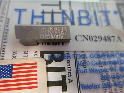 New Thinbit Cn029487a .094 D2 Spec Buy It Now4pcs Free Shipping