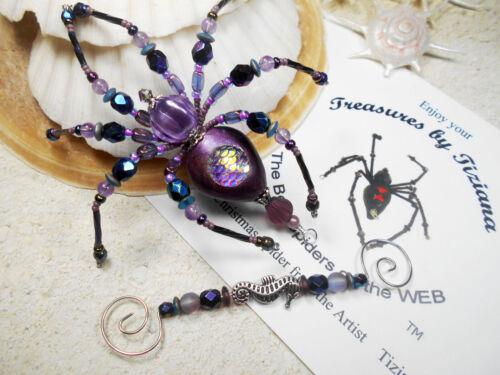 TreasuresbyTiziana® Purple Dragon Mermaid Scales Seahorse Fairy Tail Spider