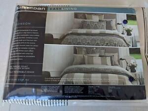 BRAND NEW - Sheridan reversible Bronson quilt cover set (single)