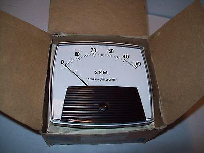 New Ge General Electric 50-17111fafa1 0-50 Spm Panel Meter P910