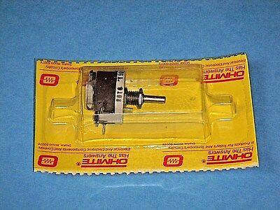 Ohmite Res1k0 Rheostat Potentiometer Model E Wirewound 12 12w 1000 Ohm 1.25 A