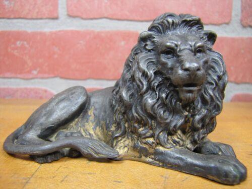 Antique LION Paperweight WMFB Small Decorative Art Statue Ornate Cast Metal