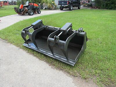 Heavy Duty Bobcat 80 Grapple Industrial Bucket Never Used Skid Steer Loader