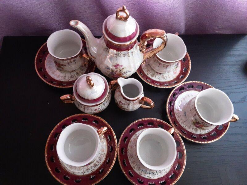 Vintage  Seyei  Lusterware Ornate Tea Set