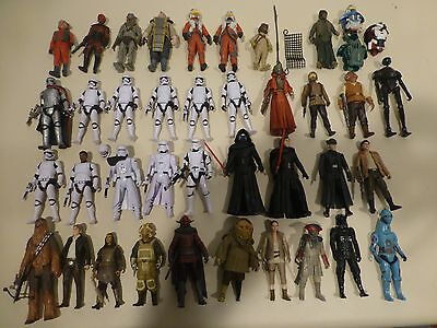 Star Wars The Force Awakens action figure lot near complete