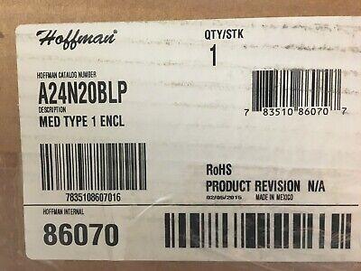 A24n20blp Hoffman Enclosure 24 X 20 8.62 Nema 1 Med Type 1 New On Hand