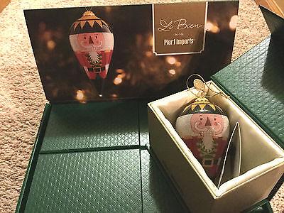 LI BIEN NUTCRACKER CONE Christmas Ornament in KEEPSAKE BOX- Pier 1 Imports 2016