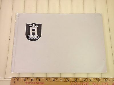 1938 HORCH Prestige Car Brochure Catalog French Version - Germany