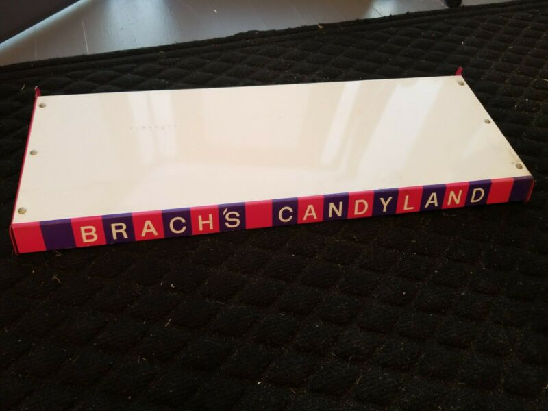 VINTAGE  Brach's Candies CANDYLAND Metal Shelf Display Rack 1968 PINK PURPLE