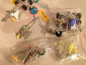 Large Lot of Newer Meccano Style Erector Set Pieces.